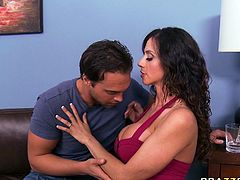 Horny mommy is a dirty cock hunter. She flirts with each and every man she meets on her way. Ariella finally seduces handsome by showing him her boobies. He squeezes her twins.