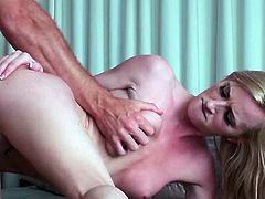 Make sure you get a load of this hardcore scene where the beautiful Skylar Green has her tight pink pussy drilled by this guy's hard cock as you hear her moan.