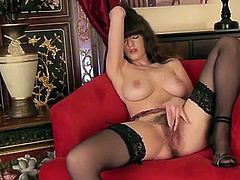 30 year old Kate Anne is a dirty little secretary from the UK. She is brand new to the scene, and is featured for the very first time! Watch this brunette goddess as her big natural boobs bounce with every thrust of her cum hungry fingers.