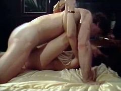 Hot blooded raven haired voracious sexpot rests leg spread in bed and her passionate twat gets invaded by throbbing penis in missionary pose. Watch this mish style fuck in The Classic Porn sex clip!