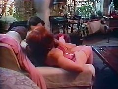 This red-haired bitch always gets what she wants. She spreads her legs wide and makes her lover worship her fascinating hole.