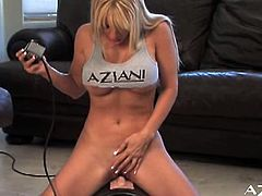 See the nasty blonde temptress Angie Savage as she flaunts her hot tits and amazing ass while trying some very provocative poses. Then she's ready to make her pussy explode of pleasure with a sybian.