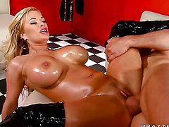 Ramon buries his erect love stick in irresistibly hot Shyla Stylezs anal hole