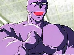 Get wild watching this anime video where a sexy fighter gets her asshole smashed and she sucks a huge schlong that doesn't fit in her mouth!