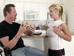 Andi Anderson sits on mechanic's hard dick. This is what she does to make things happen in her car. She surely loves the thought that her car and her pussy get the care that they need.