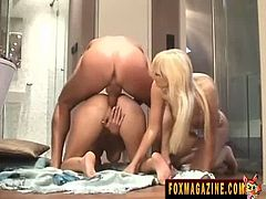 Swank Pass brings you a nasty free porn video where you can see how the vicious blondes Lena Cova and Vanessa Hell share a very big cock while also going lesbo.