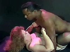 This hot little video features a chubby whore who loves to get a good greasy interracial fuck session going on and that big black cock is perfect.