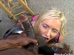 Horny black cop arrested busty blonde to fuck her smoking hot ass. This chick easily seduces that black cop and had awesome hardcore sex with him.