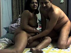 Brunette mature receives her first fuck on cam and she loves it