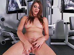 A dirty slut gets naked for the camera and sticks a hard toy in her fuckin' hole, hit play and fuckin' check it out right here, yo!