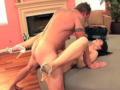 School's out and that means one thing for sure: Ashlyn Rae is at home and having sex. It doesn't matter who's giving it to her because Ashlyn will have the biggest screaming orgasms as she's bent over on all fours and taking it deep.