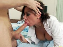 Rapacious whore with huge Mamillas gets her flabby kitty one side banged. Horny dude pokes his monstrous sausage into that dirty mouth deep throat and eats that hot pussy awhile. Take a look at this insatiable bitch in Blazzers Network porn clip!