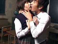 Lusty Marin Asaoka enjoys having her teacher playing naughty with her warm vag