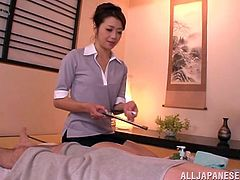 Hot and special Japanese massage action with the very special happy ending