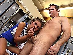 Aubrey gets fucked in the ass in the locker room