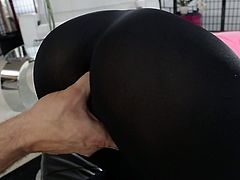 Watch this hot and sexy babe in her tight black yoga pants getting her pussy fucked and licked by some perverted jerk in Wicked sex clips.