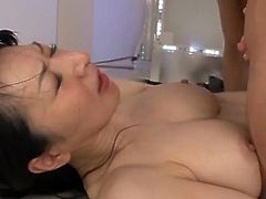 Big-Titted Hitomi loves huge shafting