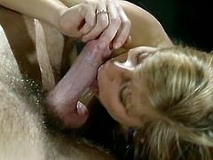 Watch this hot and super kinky blonde slutty babe with her nice and sexy titties getting her pussy banged really hard by her friend in The Classic Porn sex videos.
