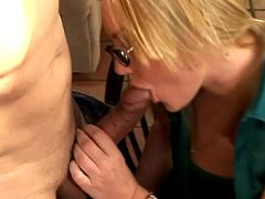 Busty blonde milf Flower Tucci and her man are trying hard to satisfy each other. They rub and lick each other's privates and seem to be unable to stop.
