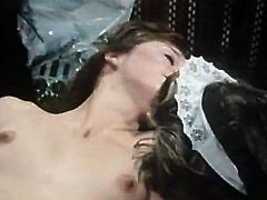 Check out raunchy retro porn from The Classic Porn studios! Brunette hoe gives handjob and gets her hairy cunt fucked missionary style. Then one busty ginger babe shows off her natural rack.
