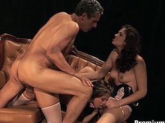 Watch these hot babes performing the wildest sex acts you have ever seen! See them deep throat her man over and over again. Watch them engaging in some hot threesome action. Afterwards, watch them getting fucked hard.Two girls and one guy is definitely a perfect equation when Ava Rose is in the picture with others.