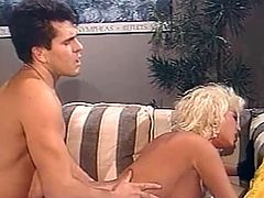 Come and see a naughty blonde temptress as she makes out with her man before he munches and fucks her pussy into a breathtaking orgasm. This definitely is one awesome vintage hardcore video!