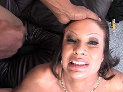 This sexy cougar loves the black cock and she is getting a lot of it in this interracial fuck fest. She loves to get stuffed with cock