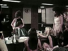 Group of fuck thirsting hungry pussies hunt for at least one but tremendous cock. Finally they got one and started seducing one not so muh handsome stud. Watch this group of kinky girlies in The Classic Porn sex clip!