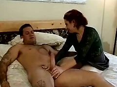 Check this tattooed cougar while she uses her pie hole to stimulate this dude's pole. Diana is a kinky mature lady who likes to go on and on all night!