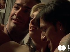 Sweet looking babe gets cozy and two dudes licks her gorgeous pussy in turn.Then they fuck her and cum on her juicy tits. This exciting Lust Cinema sex video is well worth seeing.