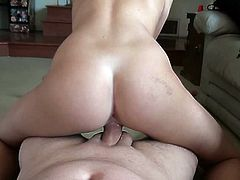 Nasty blonde girl izzy London proves that she is a real bitch. She meets a dude in the laundry and takes him to her place. There she gives him a blowjob and fucks the man in the reverse cowgirl position.