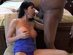 Hardcore interracial with a stunning brunette Eva Karera