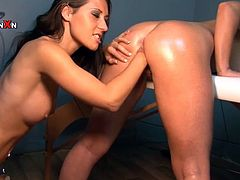 Lesbian bitch gets fisted in this amazing chick on chick scene featuring fisting. Hit play and check it out right here, yo.