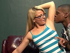 Casey Cumz is a damn milf and she likes it black! Honey gets that thick black cock in her mouth and then jumps on him with so much passion!