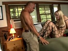Annette Schwarz fingers herself and gets her feet licked