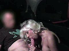 Karlie is a hot blonde MILF and she came back from a long flight. After some sweet talk with the driver she is ready for some hardcore banging in the car.