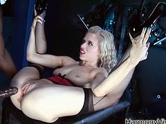 Have a look at this hardcore scene where these busty babes share a large black cock in a threesome that'll make you bust a nut.