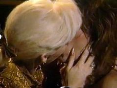Hot like hell blond head bitchy lesbian pleases hot blooded twat of her small tits dark haired whorish sex babe by licking and fingering it. Take a look at this lesbian fuck in The Classic Porn sex clip!