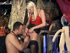 Have a look at this hardcore scene where the sexy blonde Lena Cova is masturbated by a guy before he nails her with his hard cock.