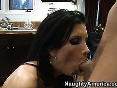 Chris Johnson sticks his fuck stick in sex crazed Shay Sightss wet spot
