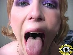 What a perversion is going on in this scene! Dirty minded Alexa Lynn whoops that cock out of a gloryhole and sucks it! She knows how to do it!