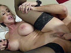Brandi Love is married to Mark. He has prepared a surprise for her: Keiran Lee. She always wanted to swing, so now she got a stranger's cock to suck on and ride.