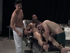 That's a fucking BDSM style doctor adventures. Moreover, these men are faggots and they are going to have it wild.
