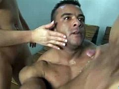 These guys are promiscuous relating sex. The fuck the girl but they don't mind sucking a dick too. If you are into such action, check out this hot video and enjoy this hot bisexual sex threesome.