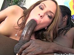 Get a load of this hardcore scene where the slutty Haley Sweet is fucked by two massive monster black cocks in a wild threesome.