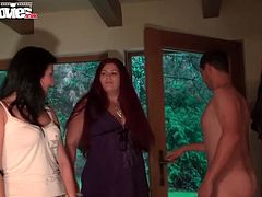 You are going to watch hot and provocative sex video produced by Fum Movies porn site. Kinky slut Cora Kitty hops on meaty cock and her lustful girlfriends suck dicks nearby.