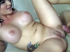 Insolent Casey Cumz plays quite nasty when feeling large cock in her wet cunt