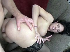 Roxanne Hall welcomes a guy in her home who promised her she will be a pornstar. She has to take his cock in her holes to prove she's good at pleasing cock.