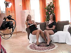 Silvia Saint satisfies her sexual needs with Cindy Dollars tongue in her in her pussy