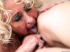 Light headed old torrid chick with big saggy tits gives awesome asshole and cunt licking to fresh blond filthy gal in bed. Watch this pervert blond bitches fuck in 21 Sextury porn video!